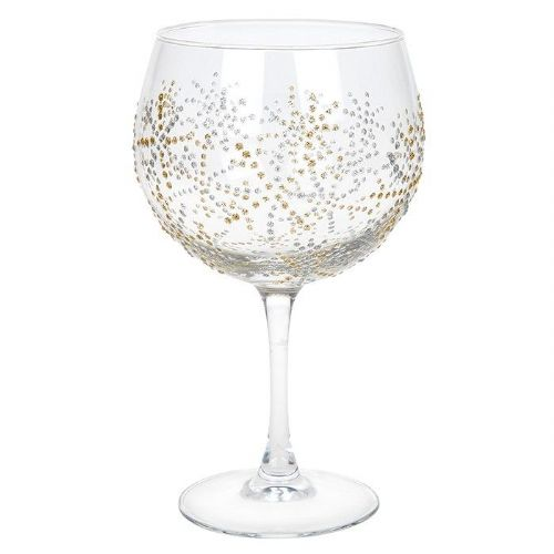 Sunny by Sue Christmas Gold Snowflake Gin Glass